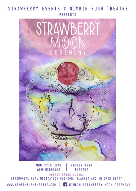 Strawberry Moon Ceremony poster